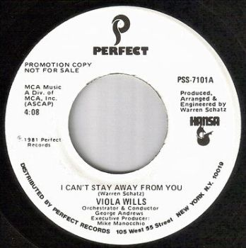 VIOLA WILLS - I CAN'T STAY AWAY FROM YOU - PERFECT dj
