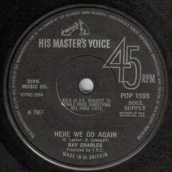 RAY CHARLES - HERE WE GO AGAIN - HMV