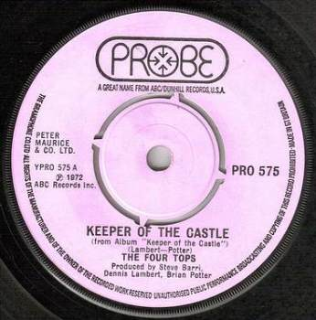 FOUR TOPS - KEEPER OF THE CASTLE - PROBE