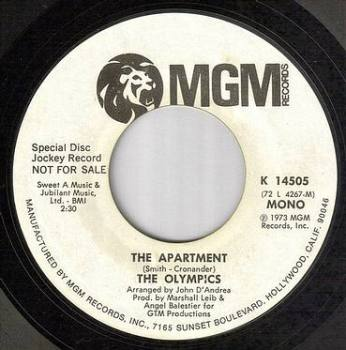 OLYMPICS - THE APARTMENT - MGM dj