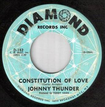 JOHNNY THUNDER - CONSTITUTION OF LOVE - DIAMOND