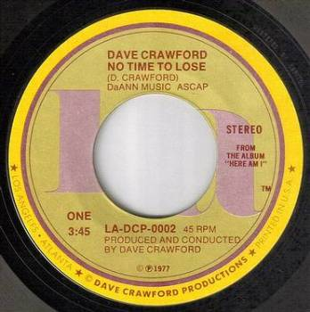 DAVE CRAWFORD - NO TIME TO LOSE - LA DCP
