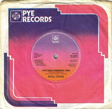 REAL THING - LOVE'S SUCH A WONDERFUL THING - PYE