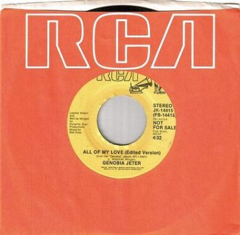 GENOBIA JETER - ALL OF MY LOVE - RCA DJ