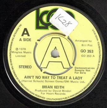BRIAN KEITH - AIN'T NO WAY TO TREAT A LADY - LOGO DEMO