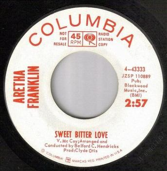 ARETHA FRANKLIN - SWEET BITTER LOVE - COLUMBIA DEMO