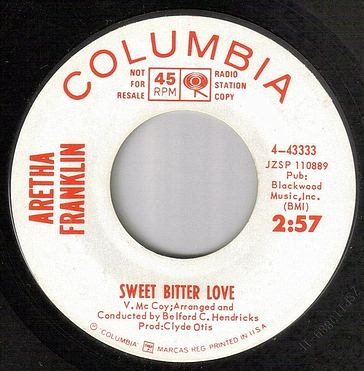 ARETHA FRANKLIN - SWEET BITTER LOVE - COLUMBIA DEMO
