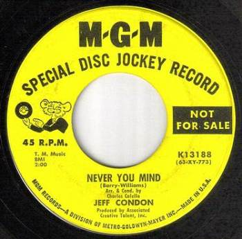 JEFF CONDON - NEVER YOU MIND - MGM DEMO