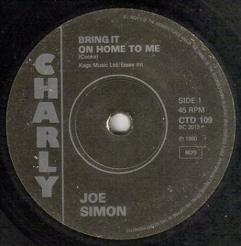 JOE SIMON - BRING IT ON HOME TO ME - CHARLY