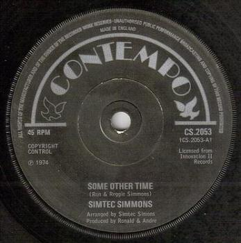 SIMTEC SIMMONS - SOME OTHER TIME - CONTEMPO
