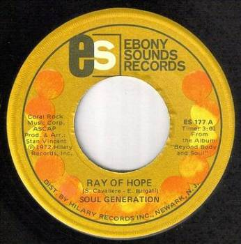 SOUL GENERATION - RAY OF HOPE - EBONY SOUNDS