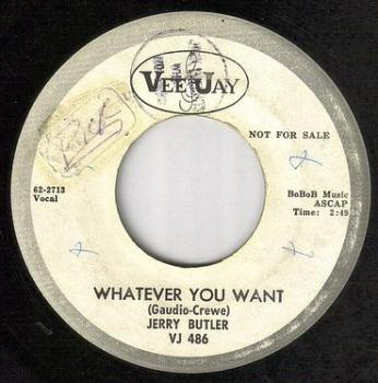 JERRY BUTLER - WHATEVER YOU WANT - VEE JAY DEMO