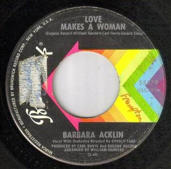 BARBARA ACKLIN - LOVE MAKES A WOMAN - BRUNSWICK