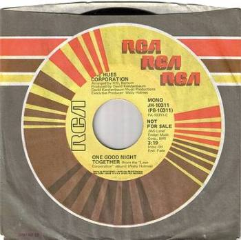 HUES CORPORATION - ONE GOOD NIGHT TOGETHER - RCA DEMO