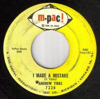 ANDREW TIBBS - I MADE A MISTAKE - M-PAC