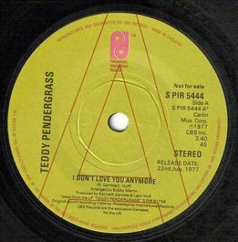TEDDY PENDERGRASS - I DON'T LOVE YOU ANYMORE - PIR DEMO