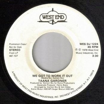 TAANA GARDNER - WE GOT TO WORK IT OUT - WEST END DEMO