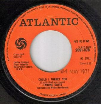 TYRONE DAVIS - COULD I FORGET YOU - ATLANTIC