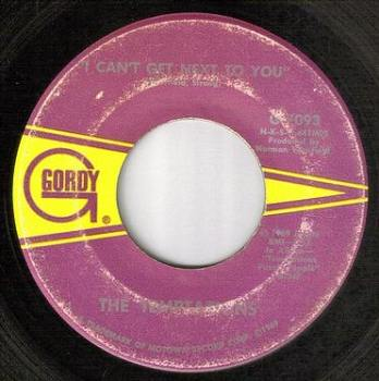 TEMPTATIONS - I CAN'T GET NEXT TO YOU - GORDY