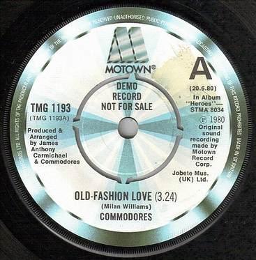 COMMODORES - OLD-FASHION LOVE - TMG 1193 DEMO