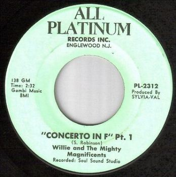 WILLIE & THE MAGNIFICENTS - CONCERTO IN F - ALL PLATINUM