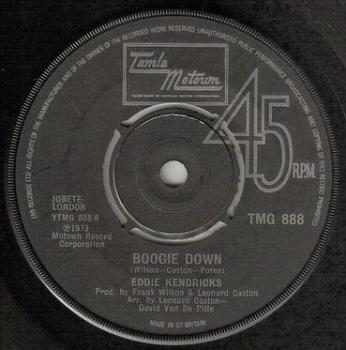 EDDIE KENDRICKS - BOOGIE DOWN - TMG 888