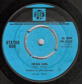 STATUS QUO - MEAN GIRL - PYE