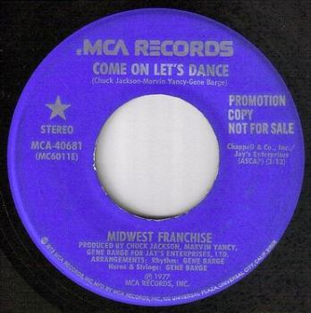 MIDWEST FRANCHISE - COME ON LET'S DANCE - MCA DEMO