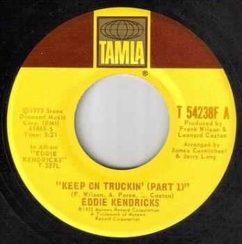 EDDIE KENDRICKS - KEEP ON TRUCKIN' - TAMLA