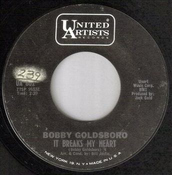 BOBBY GOLDSBORO - IT BREAKS MY HEART - UA