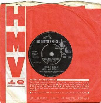 MANFRED MANN - HUBBLE BUBBLE (TOIL AND TROUBLE) - HMV