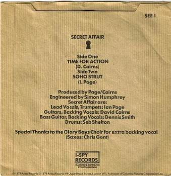 SECRET AFFAIR - TIME FOR ACTION - I SPY