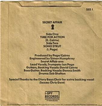 SECRET AFFAIR - TIME FOR ACTION - I SPY