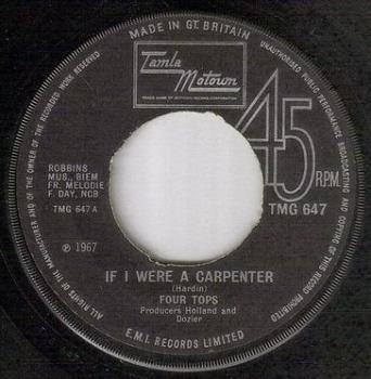 FOUR TOPS - IF I WERE A CARPENTER - TMG 647