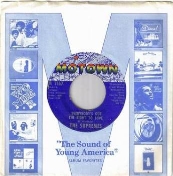 SUPREMES - EVERYBODY'S GOT THE RIGHT TO LOVE - MOTOWN