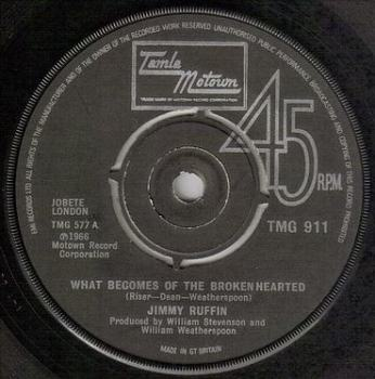JIMMY RUFFIN - WHAT BECOMES OF THE BROKEN HEARTED - TMG 911