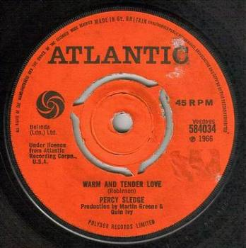 PERCY SLEDGE - WARM AND TENDER LOVE - ATLANTIC
