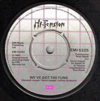 HI-TENSION - WE'VE GOT THE FUNK - EMI