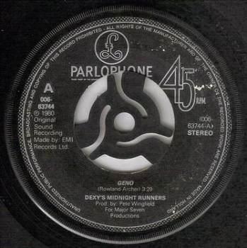 DEXY'S MIDNIGHT RUNNERS - GENO - PARLOPHONE