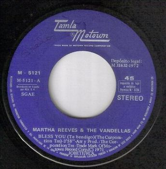 MARTHA REEVES & THE VANDELLAS - BLESS YOU - MOTOWN 5121