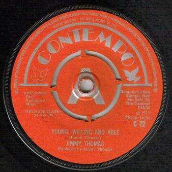 JIMMY THOMAS - YOUNG, WILLING AND ABLE - CONTEMPO DEMO