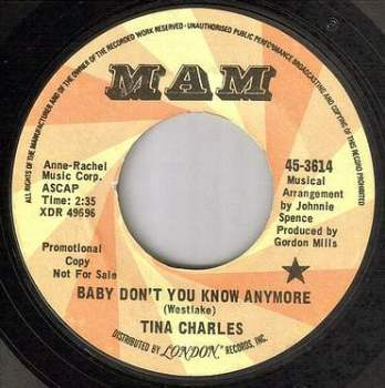 TINA CHARLES - BABY DON'T YOU KNOW ANYMORE - MAM DEMO