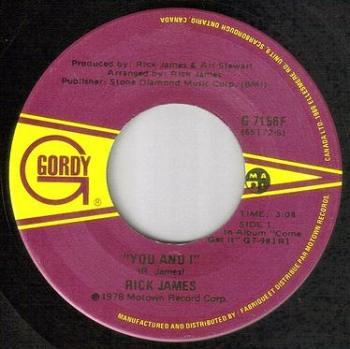 RICK JAMES - YOU AND I - GORDY