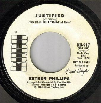 ESTHER PHILLIPS - JUSTIFIED - KUDU DEMO