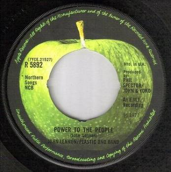 JOHN LENNON - POWER TO THE PEOPLE - APPLE 5892