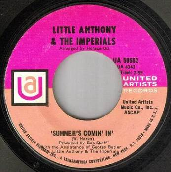 LITTLE ANTHONY & THE IMPERIALS - SUMMER'S COMIN' IN - UA