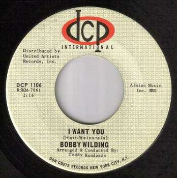 BOBBY WILDING - I WANT YOU - DCP