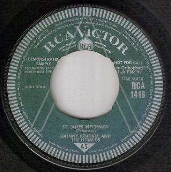 JOHNNY KENDALL & THE HERALDS - ST. JAMES INFIRMARY - RCA DEMO