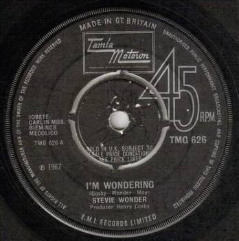STEVIE WONDER - I'M WONDERING - TMG 626