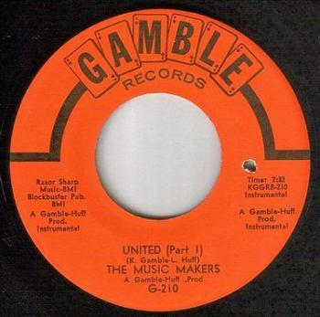 MUSIC MAKERS - UNITED - GAMBLE